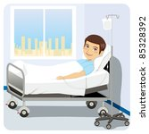 young adult man resting at... | Shutterstock .eps vector #85328392