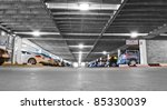 Generic car park interior - stock photo