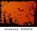 grunge halloween night... | Shutterstock . vector #85330435