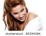 portrait of young adult woman... | Shutterstock . vector #85334284