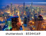 Chicago Skyline At Night From...