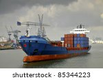 container ship | Shutterstock . vector #85344223
