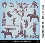 Engraving Vintage Acrobats From ...
