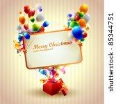 congratulation poster. | Shutterstock .eps vector #85344751