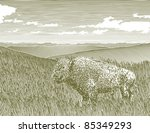 woodcut style illustration of a ... | Shutterstock .eps vector #85349293