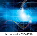 vector composition abstract... | Shutterstock .eps vector #85349710