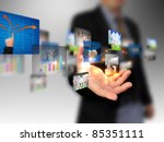 hand holding business collection | Shutterstock . vector #85351111