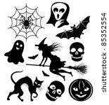 halloween silhouettes | Shutterstock .eps vector #85352554