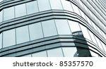 black glass wall of skyscraper | Shutterstock . vector #85357570