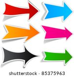 sticky collection of paper... | Shutterstock .eps vector #85375963