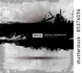 grunge banner with an inky... | Shutterstock .eps vector #85376056