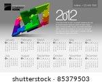 2012 Calendar. Vector...