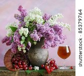 Still Life With Lilac  Grapes...