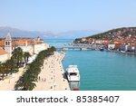 panorama of trogir in croatia | Shutterstock . vector #85385407