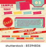 vector design elements  10  | Shutterstock .eps vector #85394836