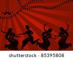 shadow art graba dancer in sun...   Shutterstock .eps vector #85395808