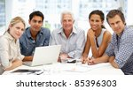 mixed group in business meeting | Shutterstock . vector #85396303