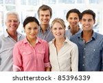 mixed group business people in... | Shutterstock . vector #85396339