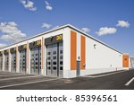 warehouse with modern... | Shutterstock . vector #85396561