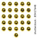 dictionary 3d glossy icon with... | Shutterstock . vector #85417648