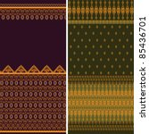 indian sari borders  detailed... | Shutterstock .eps vector #85436701