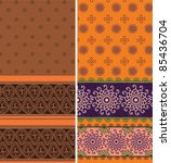 indian sari borders  detailed... | Shutterstock .eps vector #85436704