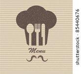 restaurant menu retro poster | Shutterstock .eps vector #85440676