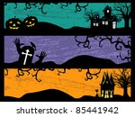 halloween background with dead... | Shutterstock .eps vector #85441942