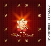 beautiful diwali background...   Shutterstock .eps vector #85442320