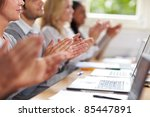students clapping hands for... | Shutterstock . vector #85447891
