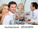 couple at a dinner party | Shutterstock . vector #85454890