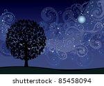 illustration with tree under...   Shutterstock .eps vector #85458094