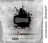 grunge banner with an inky... | Shutterstock .eps vector #85460647