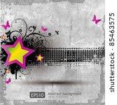 retro grunge background with... | Shutterstock .eps vector #85463575