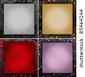 Decorative frames - Greeting cards - stock photo