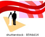 bride and bridegroom walking up ... | Shutterstock . vector #8546614