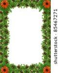 christmas green  framework...   Shutterstock . vector #85467271