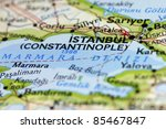 istanbul on the map. | Shutterstock . vector #85467847