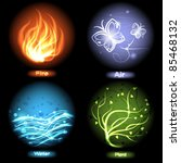 four elements of nature   fire  ...
