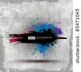 vector old paper ink splat... | Shutterstock .eps vector #85471045