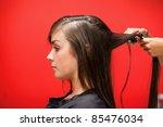 Woman Having Her Hair...