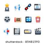 cinema symbols vector set | Shutterstock .eps vector #85481593