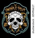 vector illustration   skull t...   Shutterstock .eps vector #85496617