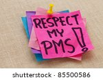 respect my pms  premenstrual ...   Shutterstock . vector #85500586