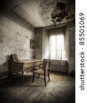 a desk in a creepy atmosphere ... | Shutterstock . vector #85501069