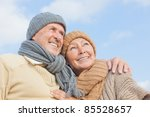 Senior Couple With Blue Sky In...