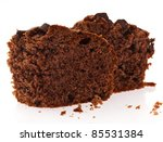 Chocolate Brownie Isolated On A ...