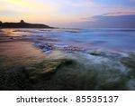 beautiful sunset by the beach | Shutterstock . vector #85535137
