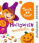 halloween greeting card or... | Shutterstock .eps vector #85540546