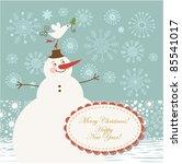 cute snowman   christmas... | Shutterstock .eps vector #85541017